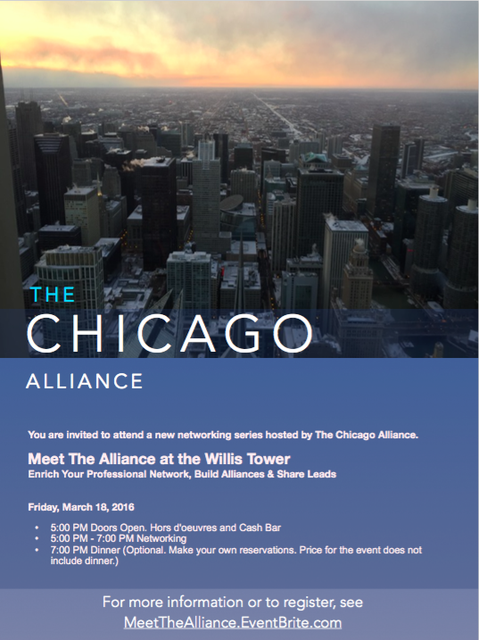 The Chicago Alliance - New Networking Series 2016